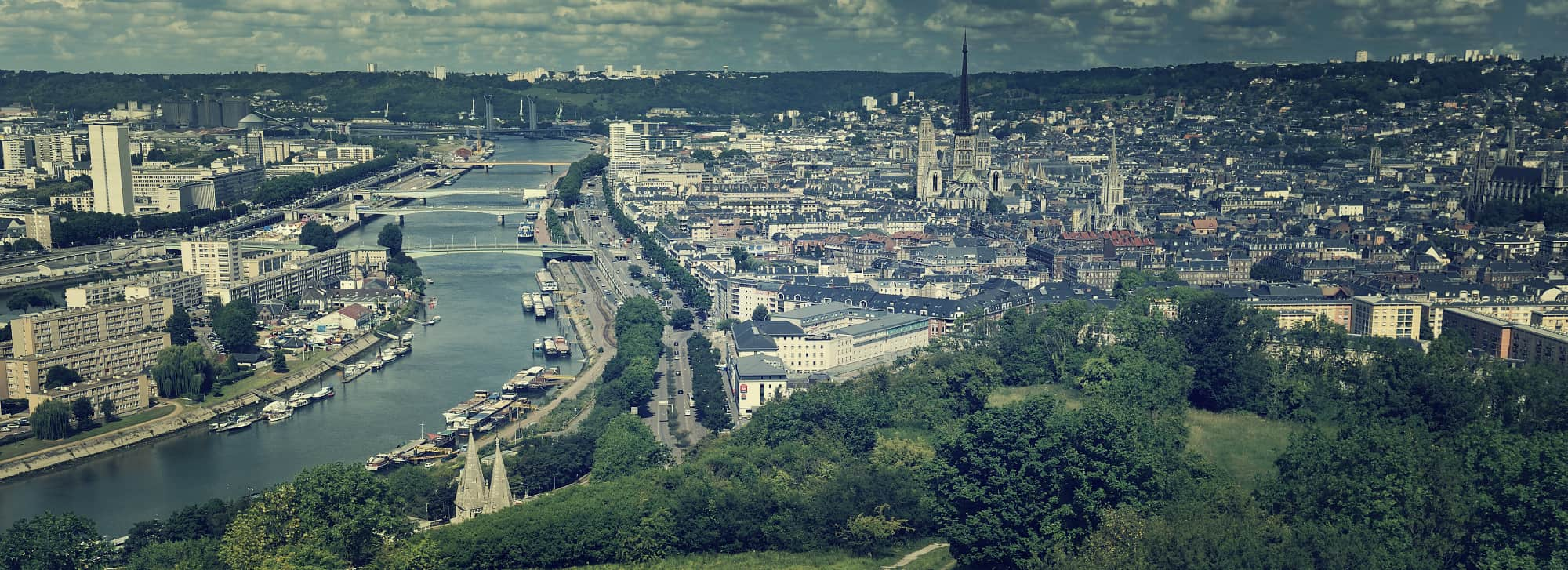 Kurtaxe in Rouen Capital of Normandy Panorama Colline Sainte Catherine Rouen Normandie